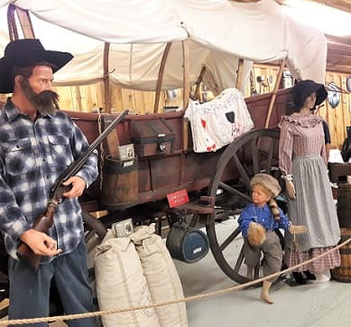 A Conestoga Wagon was used by Early American families