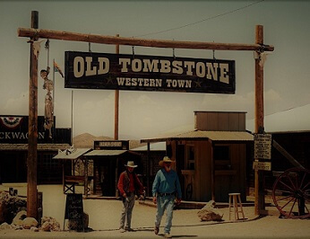 Old Tombstone Western Town Wild West Shows