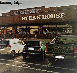 Old Wild West steakhouse in Italy