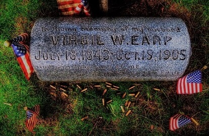 Virgil Earp Headstone, River View Cemetery, Portland OR